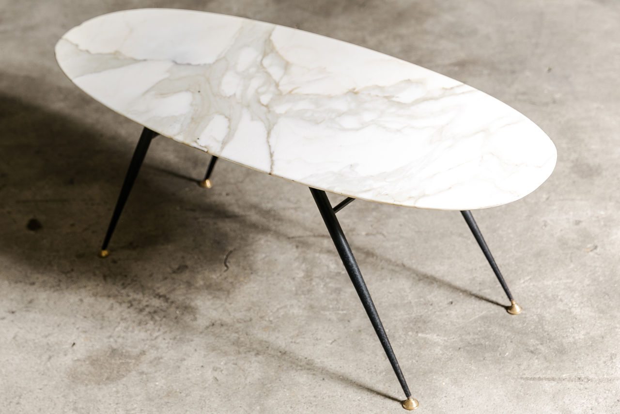 1950s Italian marble top coffee table
