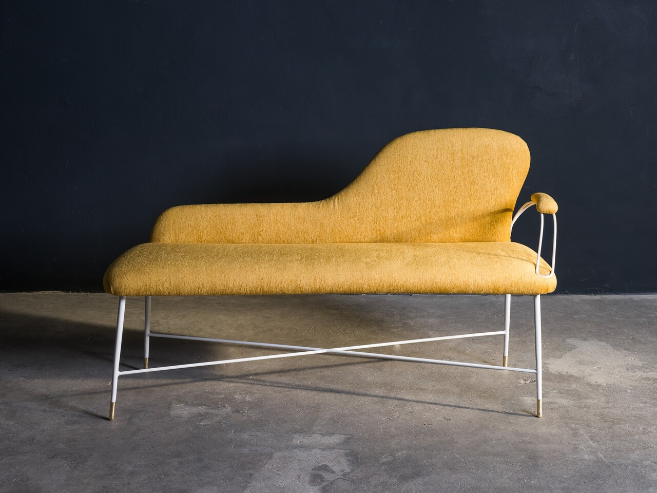 1950s Italian upholstered bench