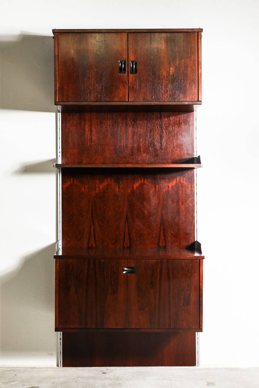 1950s Rosewood Bookcase by Stildomus Italy