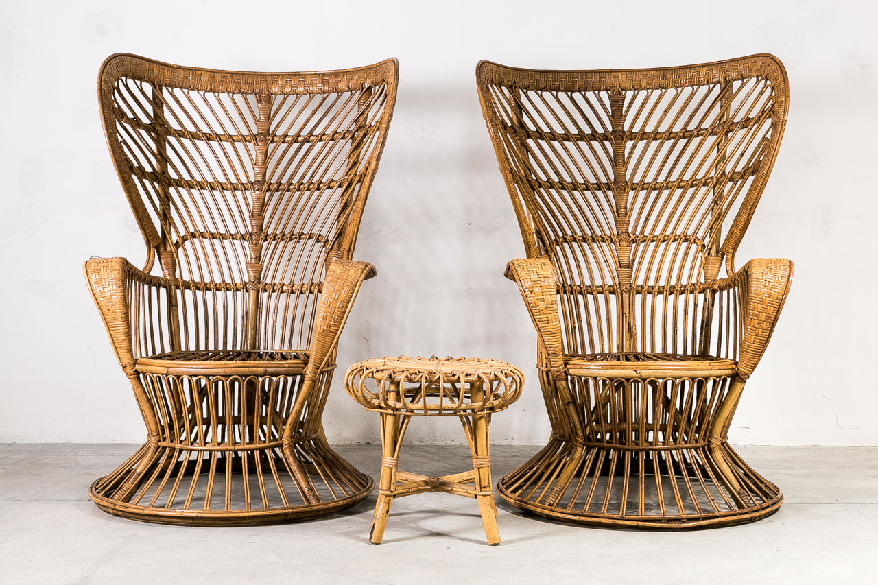 1950s Wicker Chair by Gio Ponti
