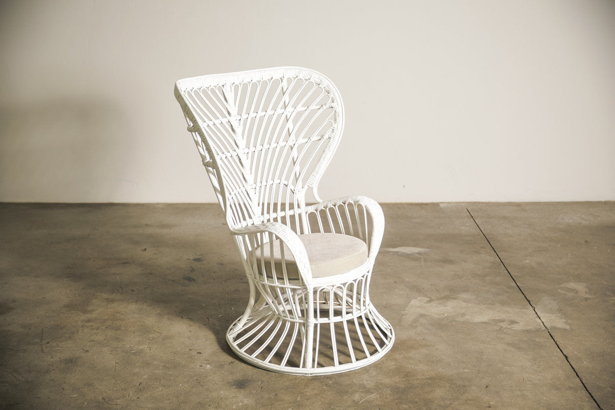 1950s Wicker Chair set by Gio Ponti