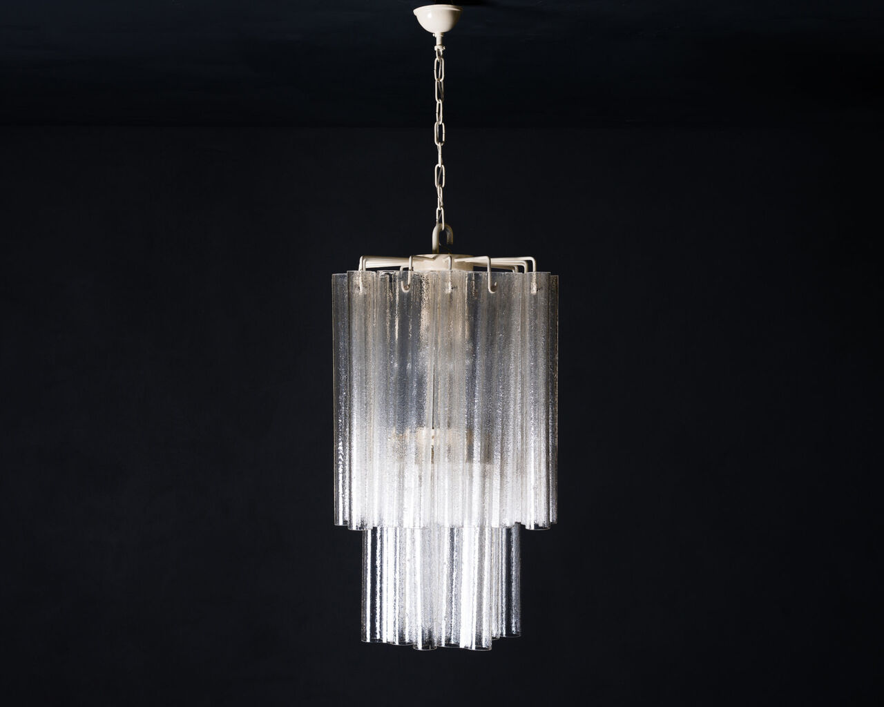 1960s clear Murano Chandelier by Venini