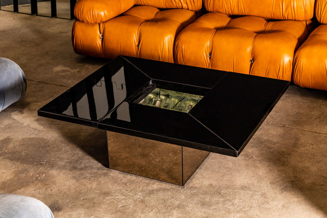 1970s Paul Michel Coffee Table and Dry Bar