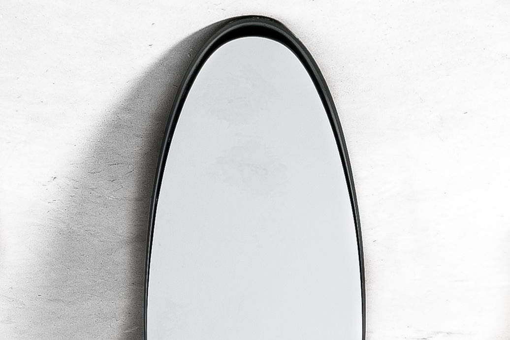 1970s Roger Lecal Black Lipstick Mirror