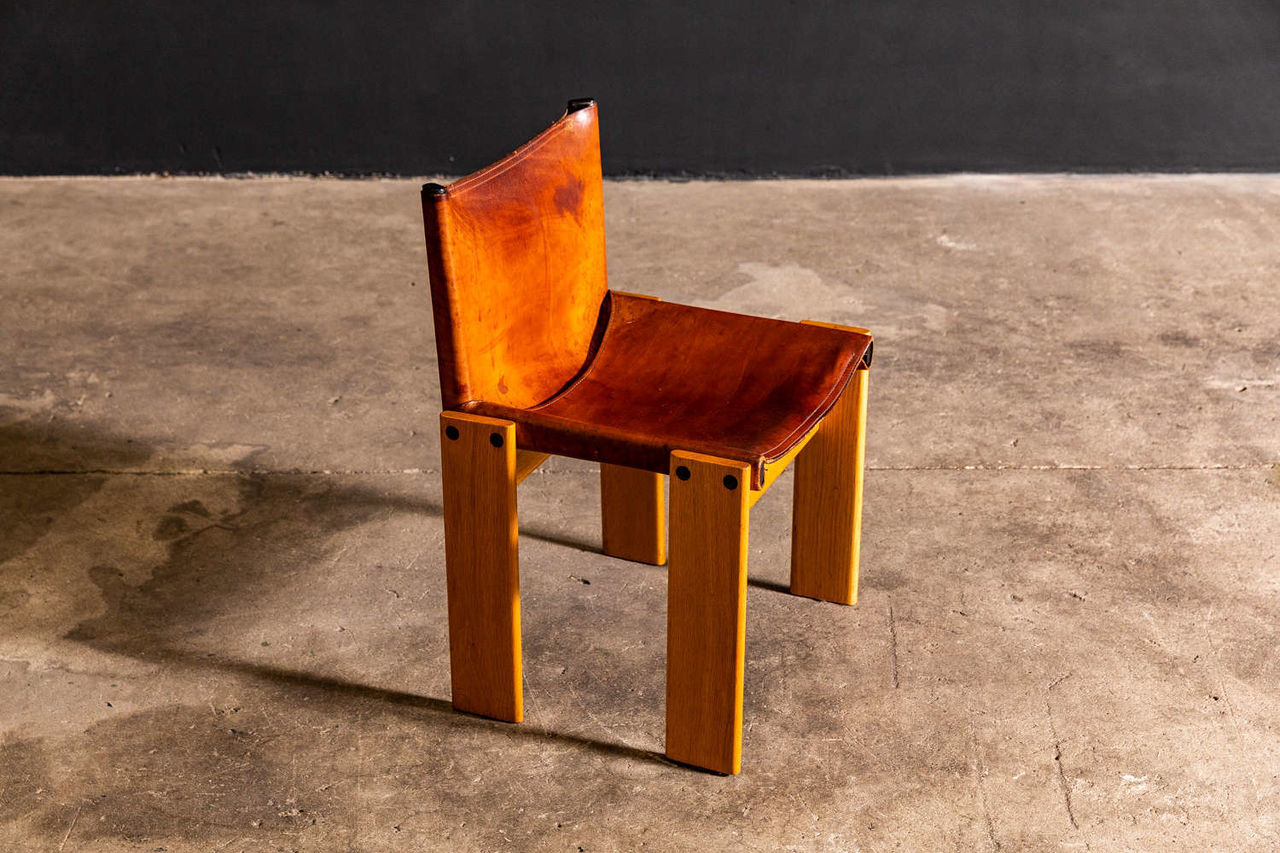 Afra and Tobia Scarpa Monk Chair Set