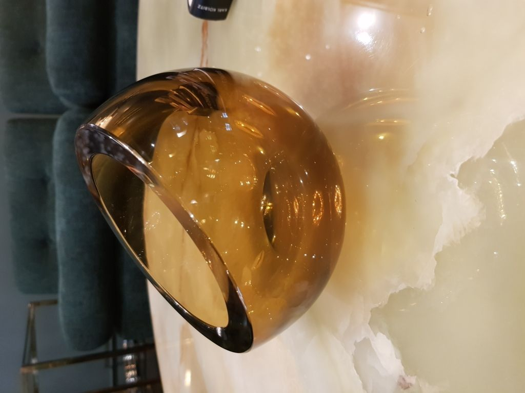 Amber Glass bowl by Antonio Da Ros Cenedese Murano