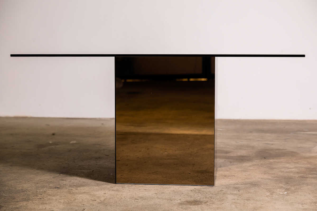 Blok dining table by Nanda Vigo for Acerbris 1971