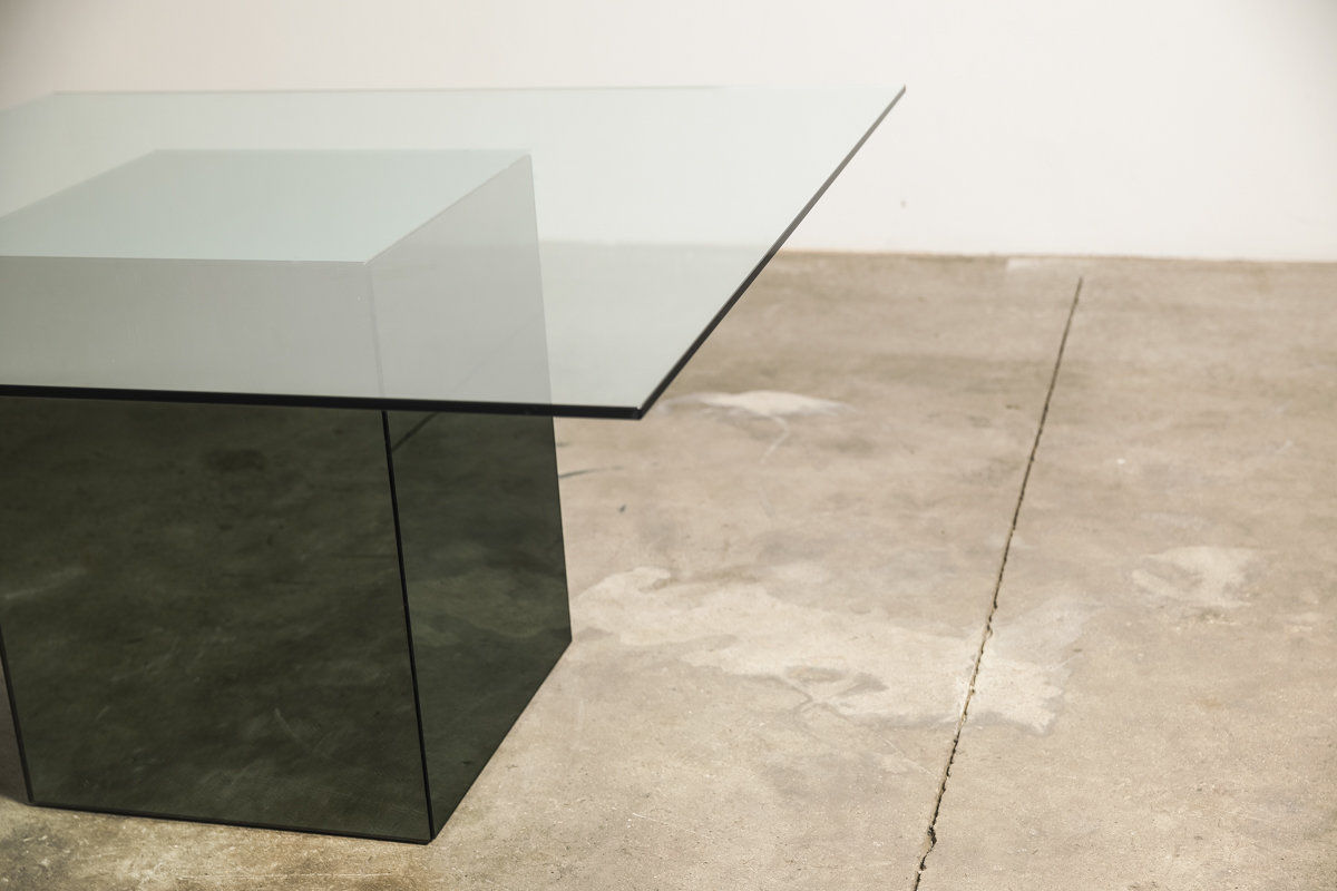 Blok dining table designed by Nanda Vigo for Acerbis 1971