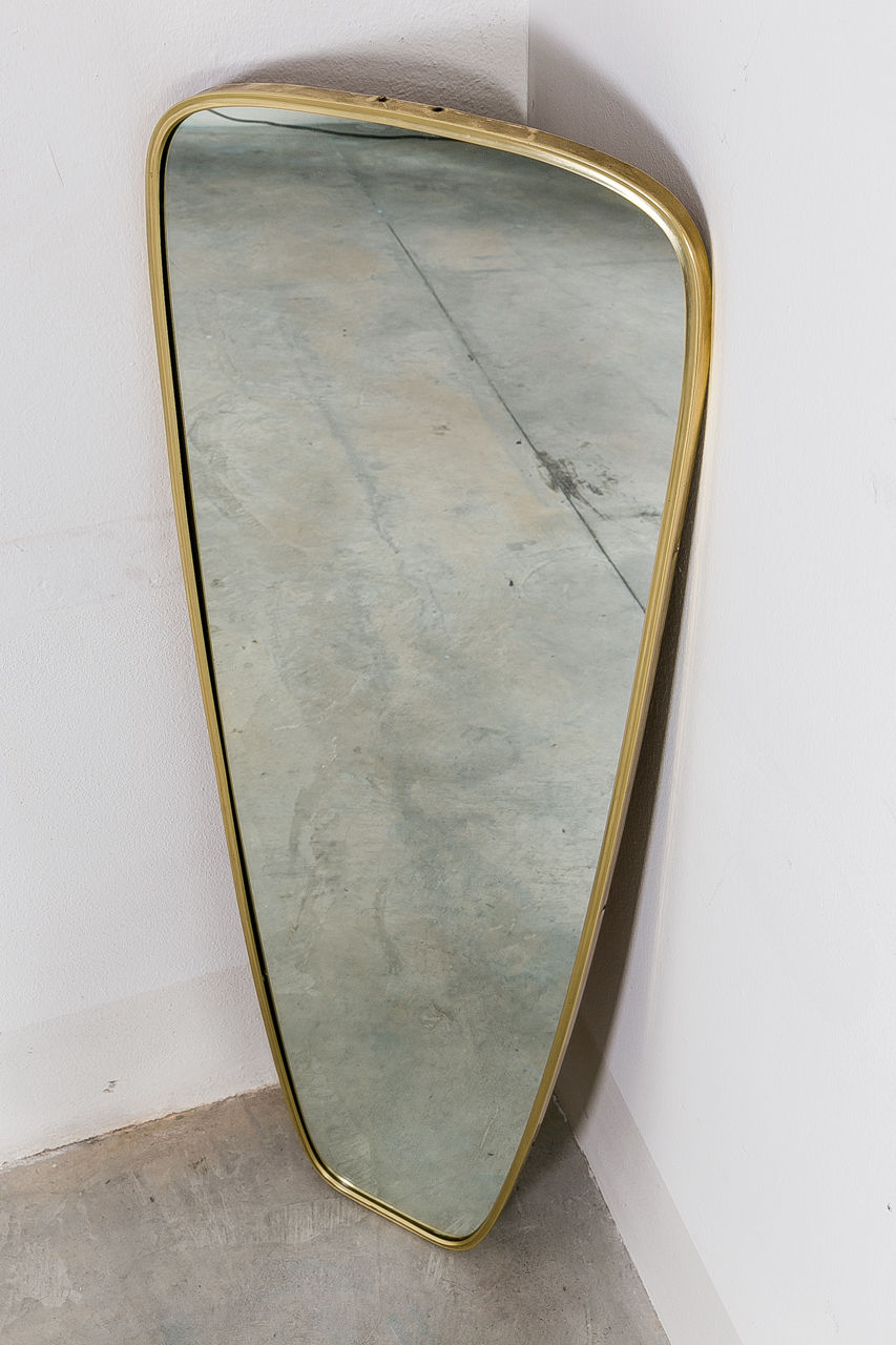 Brass German Mirror 1950s