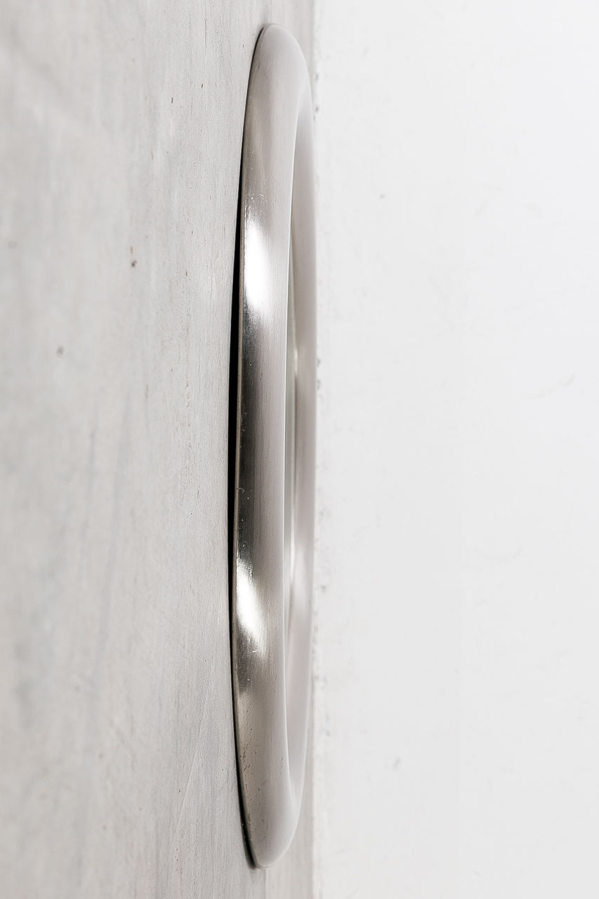 Brushed Steel Mirror by Reggiani