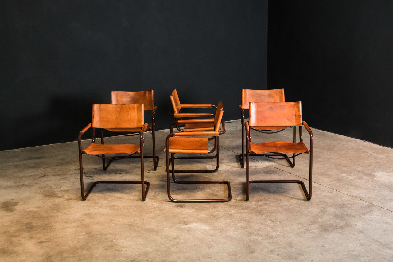 Cantilever dining chairs by Mart Stam for Fasem