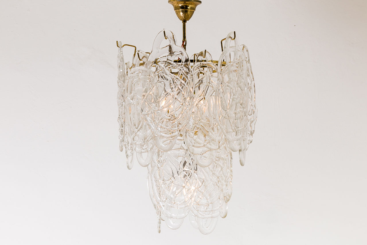 Chandelier by Mazzega model Ragnatela Spiderweb