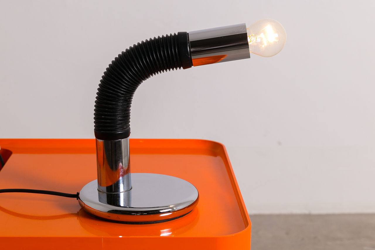 Chrome Bendy table lamp by Targetti