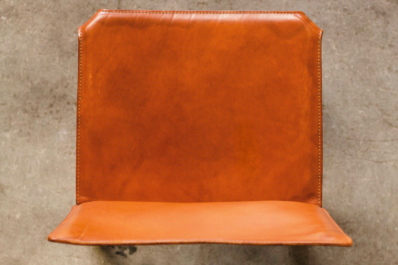 Cognac leather Cab Chairs by Mario Bellini 1980s Set of 5