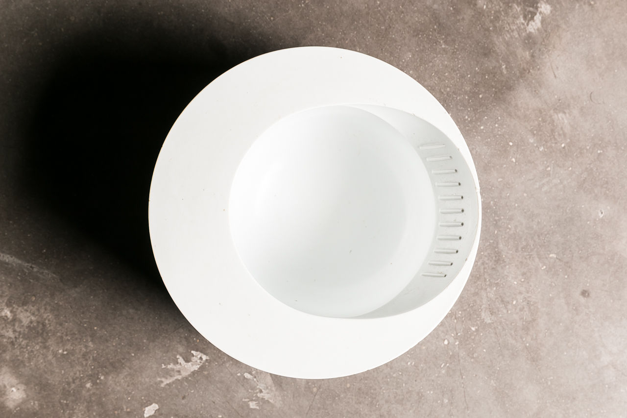 Enzo Mari White Plastic Borneo Ashtray for Danese Milano