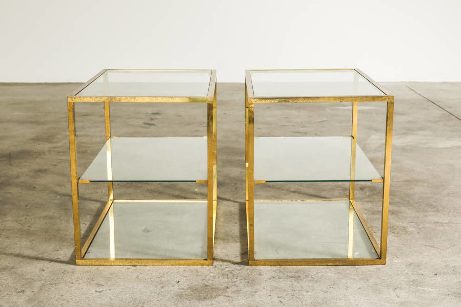 French Brass side table