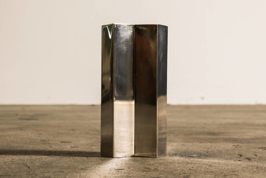 Geometric Silver Vase by Teghini Firenze