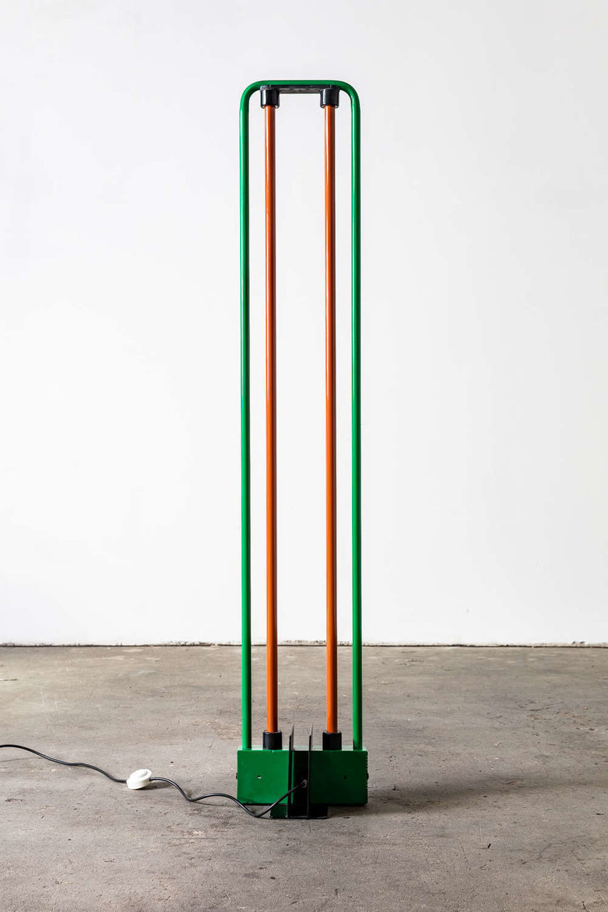 Gian Nicola Gigante Neon for Zerbetto Floor Lamp Red and Green