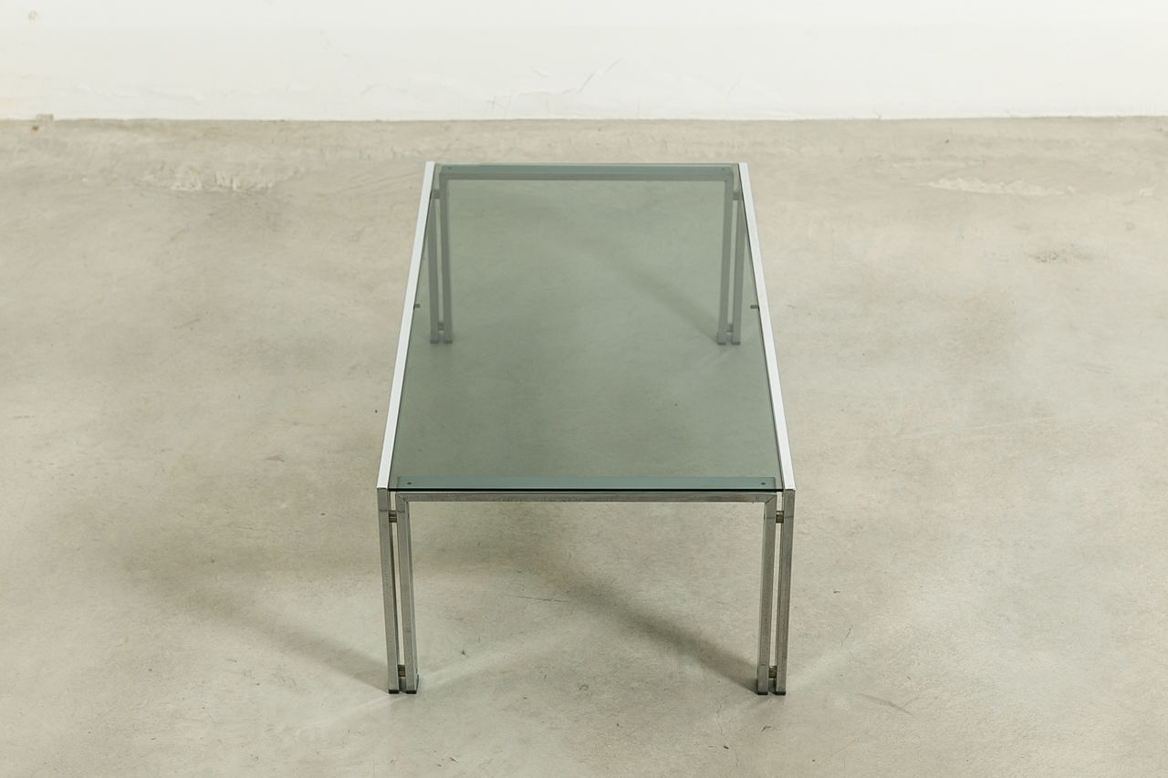 Glass Coffee Table Circa 1970 Italy