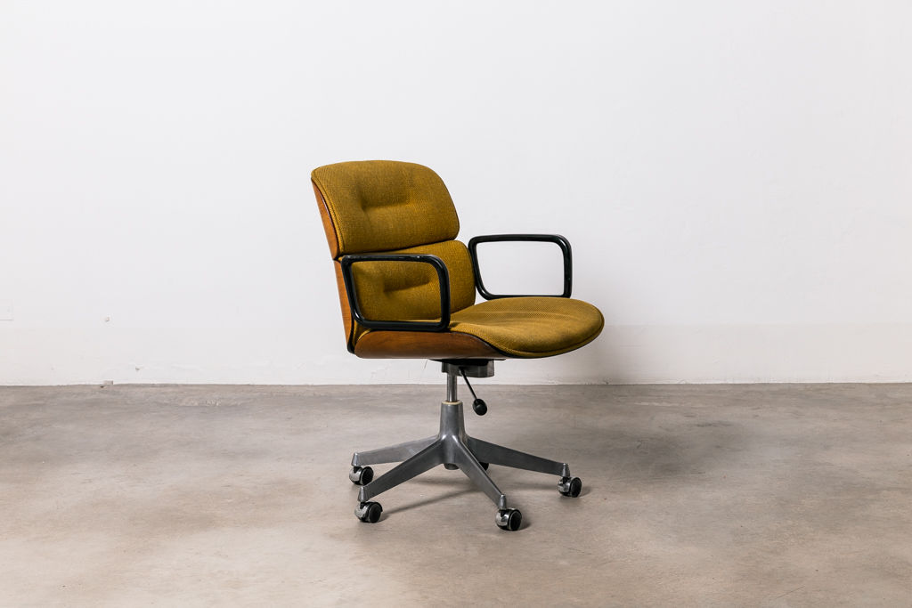 Ico Parisi Office Chair with Fabric for MIM double back