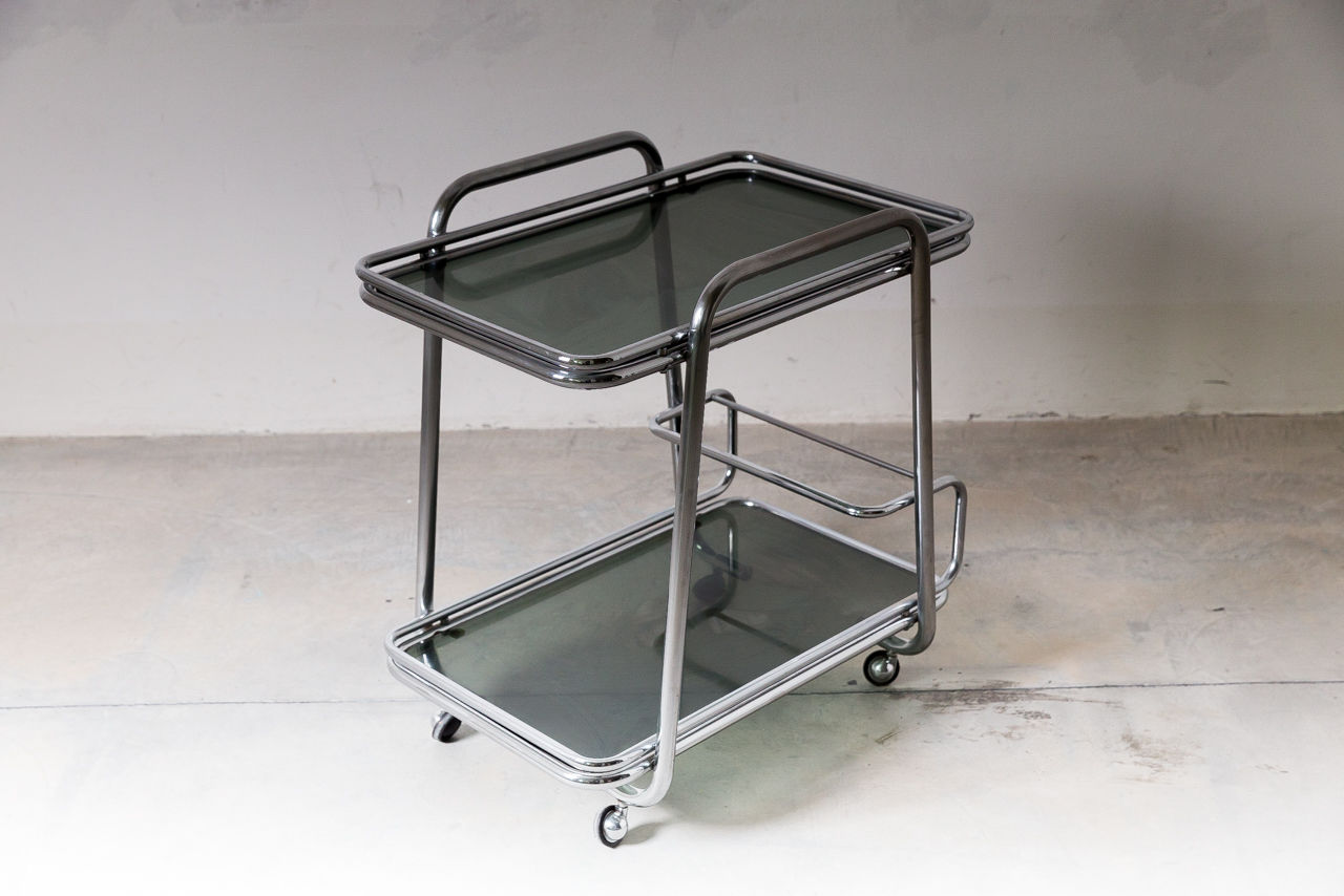Italian Chrome Bar Cart
