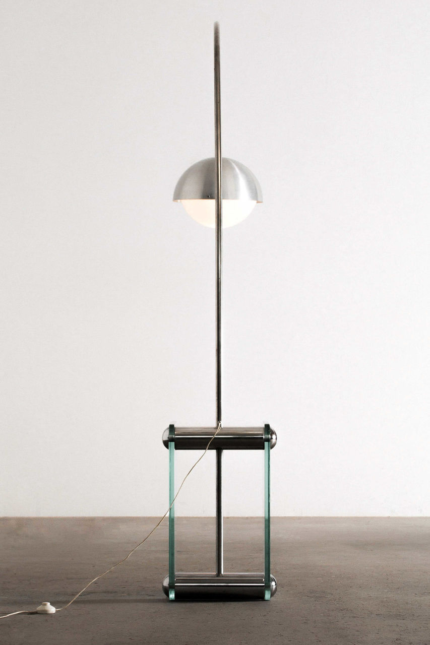 Italian Mid Century glass floor lamp