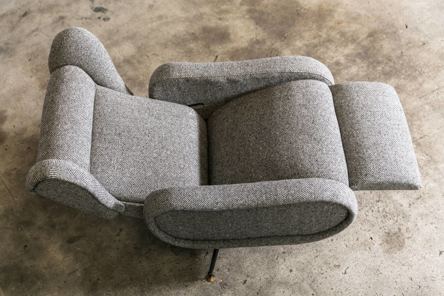 Italian Wingback Recliner Lounge Chair
