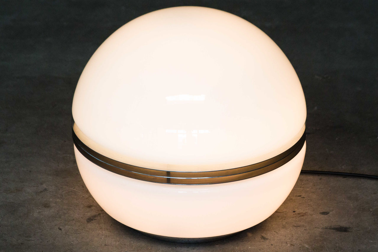 Italian glass space age table lamp