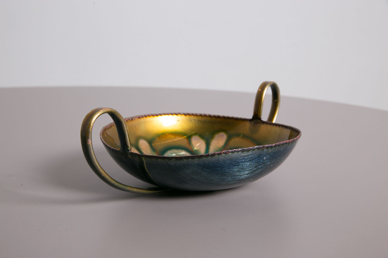 Laurana Rame Darte Italian Copper Enamel Bowl 1960