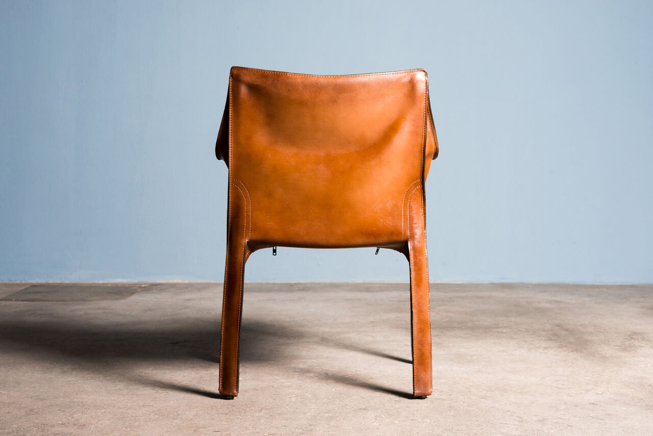 Leather Cab Armchair by Mario Bellini for Cassina