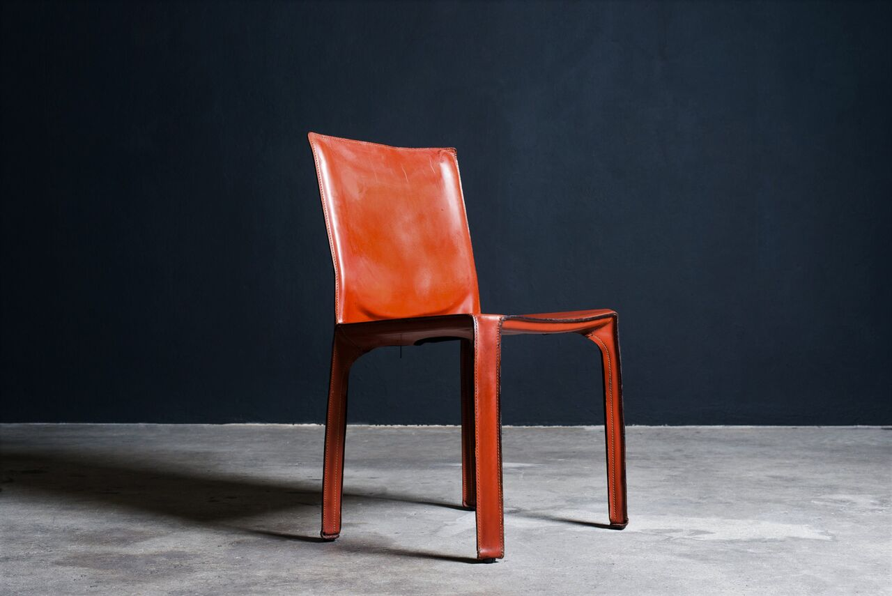Leather Cab Chairs by Mario Bellini for Cassina