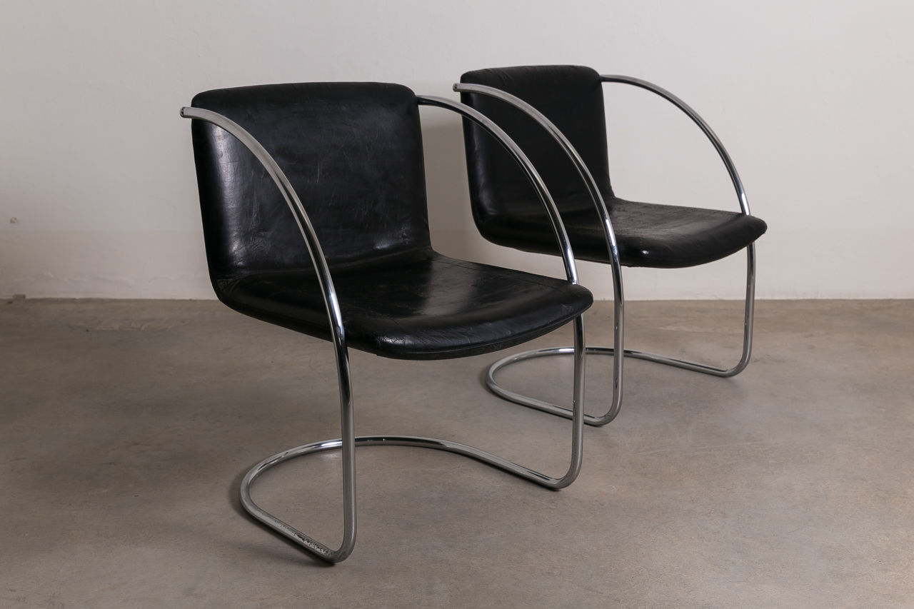 Lens Chairs by Giovanni Offredi for Saporiti