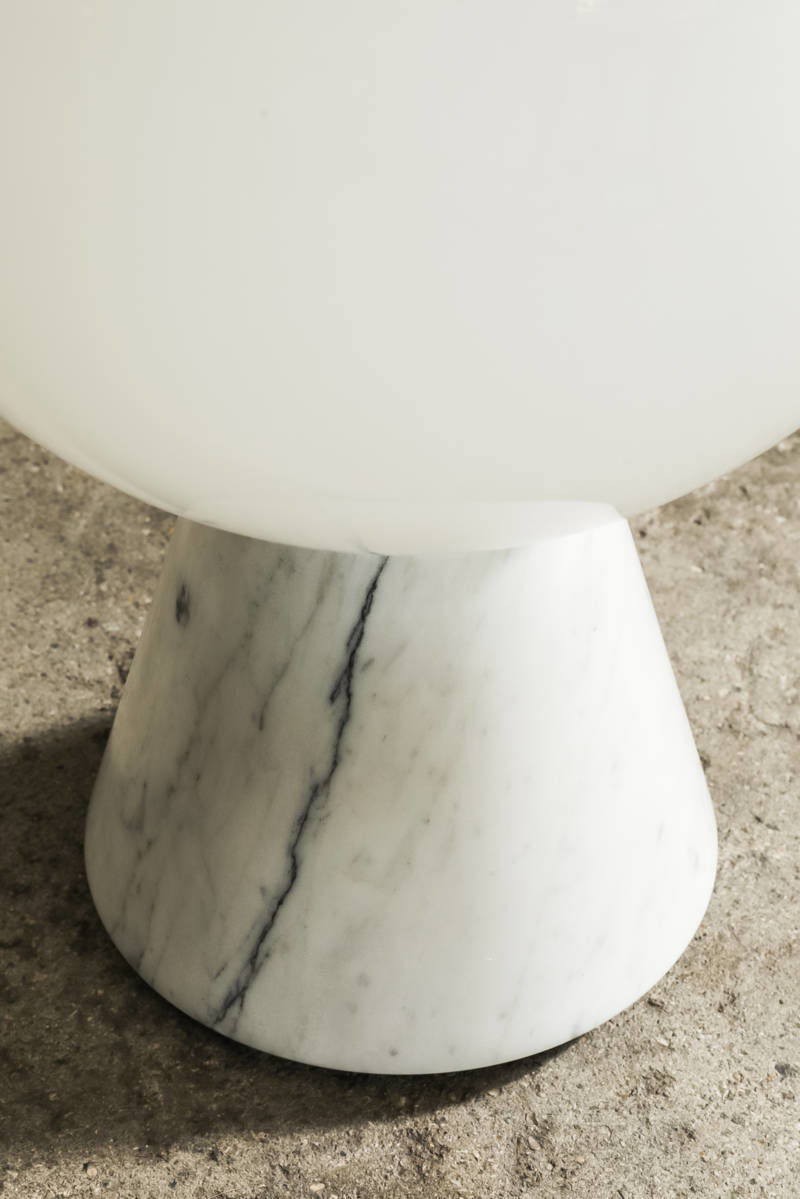 Marble and Murano glass lamp