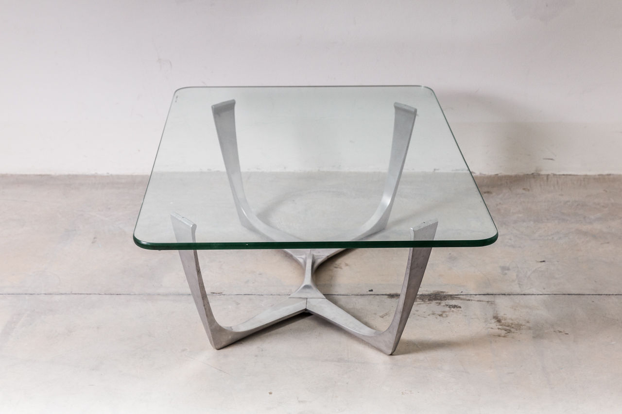 Mid Century Glass coffee table