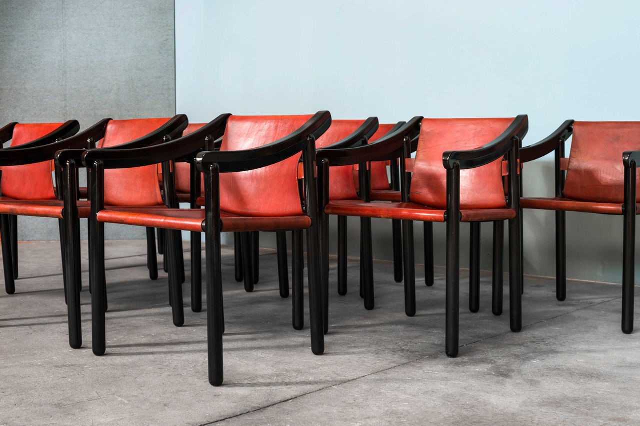 Model 905 by Vico Magistretti for Cassina Italy 1960s Set of 12