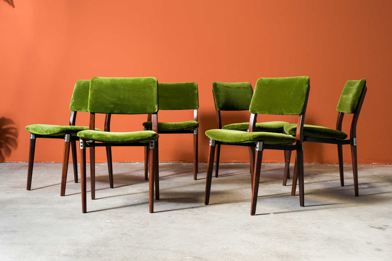 Model S82 Chairs by Eugenio Gerli for Tecno 1960s Set of 6