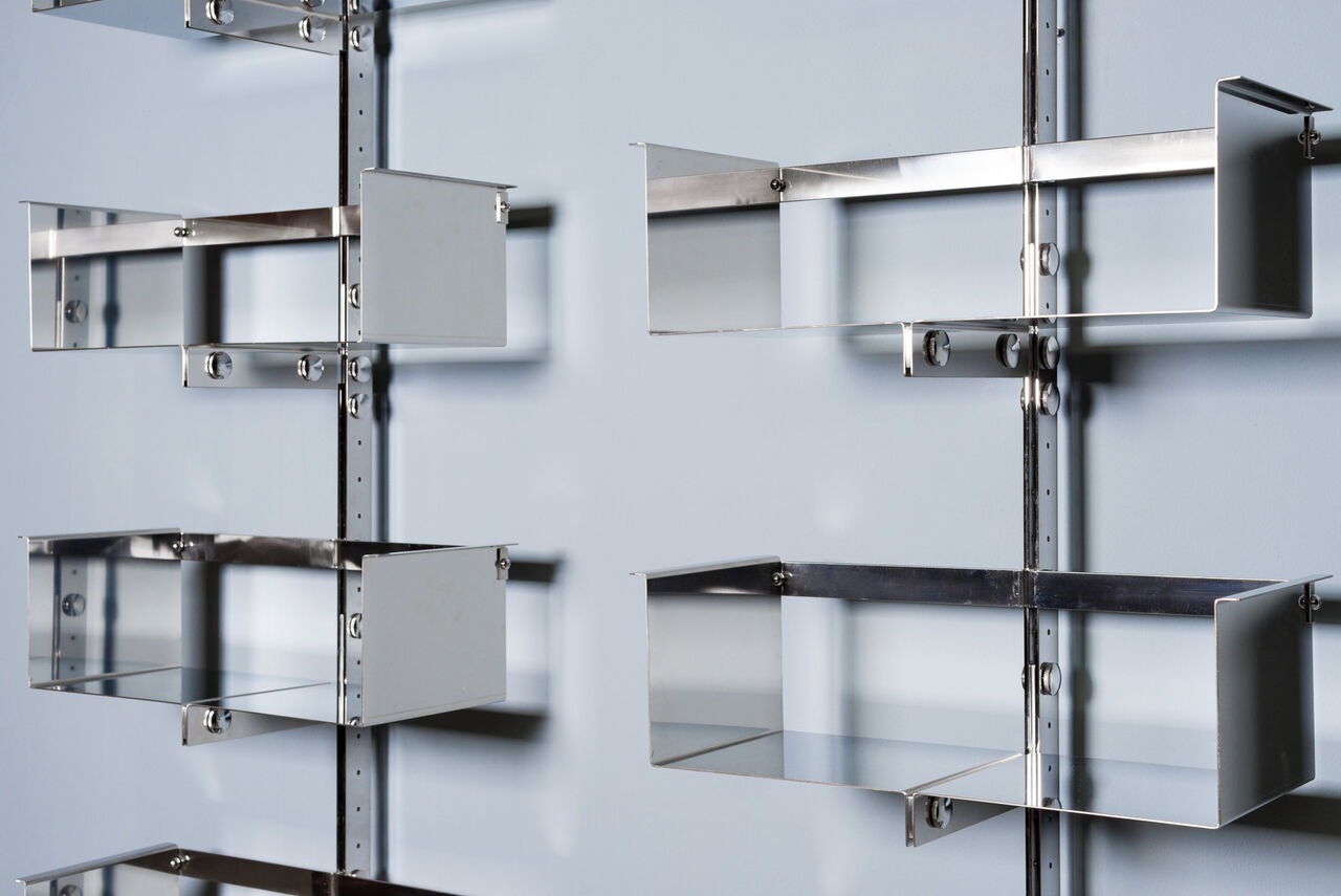 Modular WallMounted Shelving System by Vittorio Introini for Saporiti 1960s Set of 3