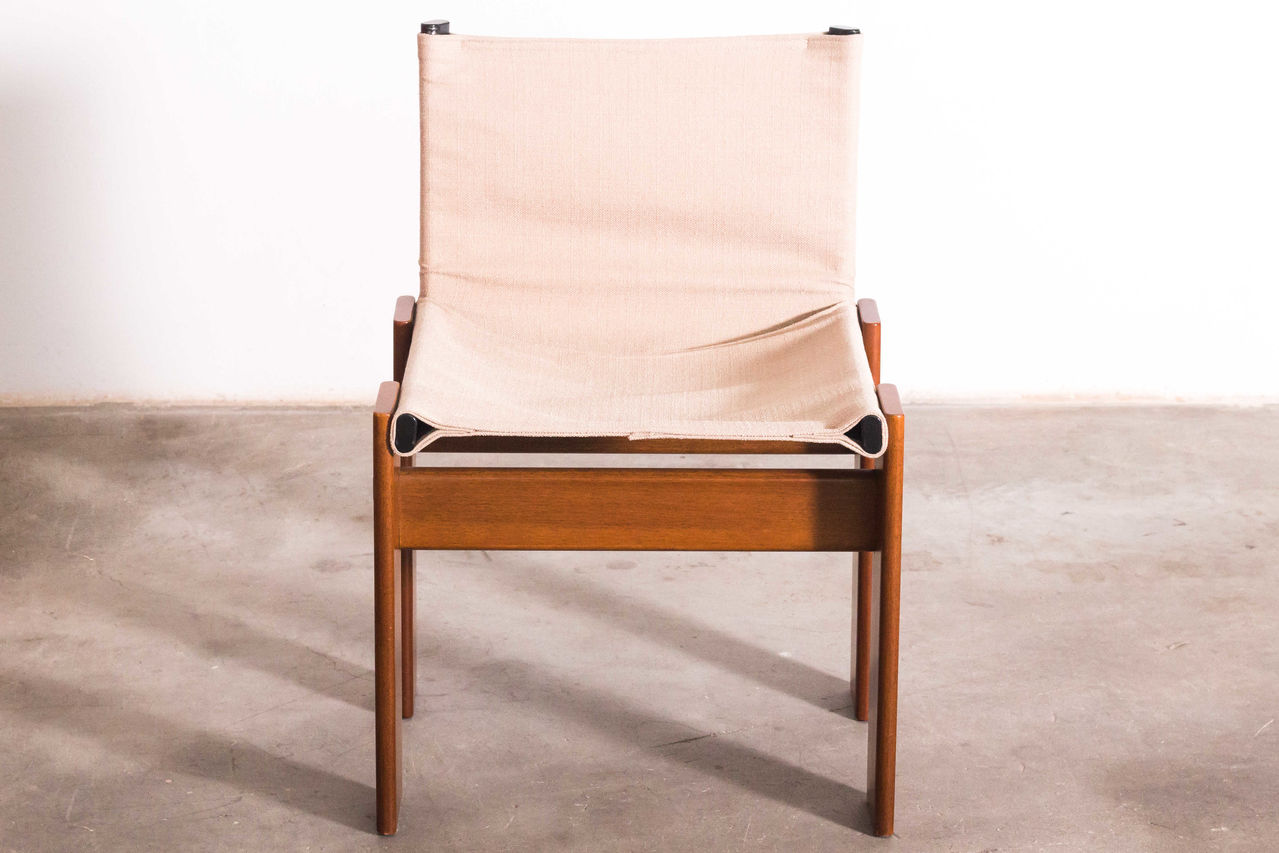 Monk Chairs by Afra and Tobia Scarpa raw cloth