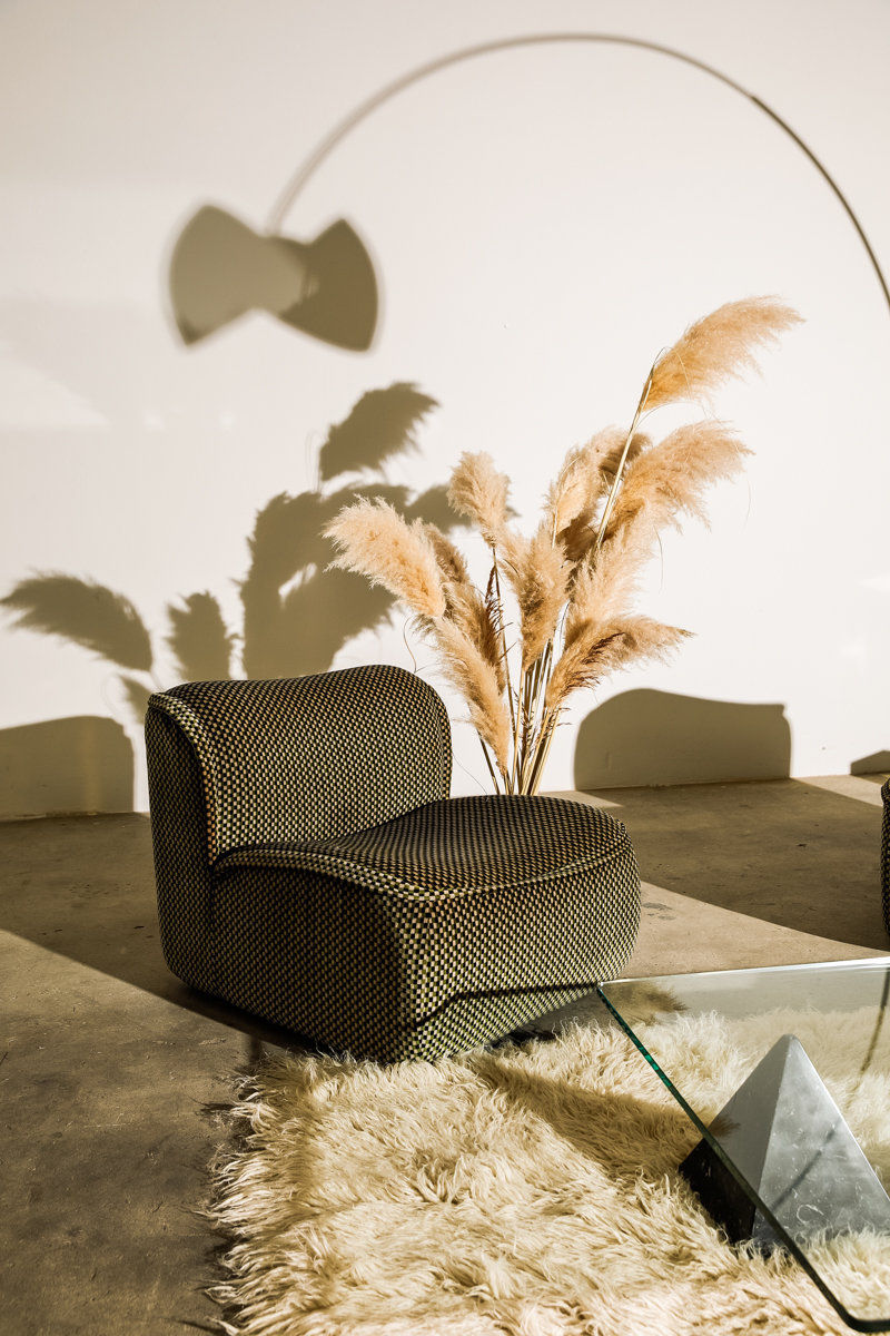 Pair of Calida Lounge Chairs Des Arch Giudici