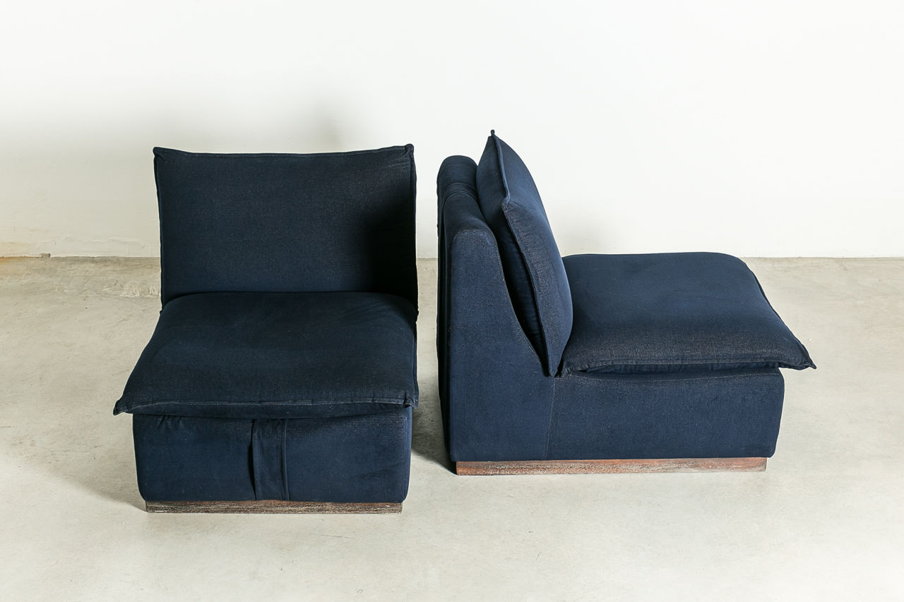 Pair of Italian Vintage Lounge Chairs