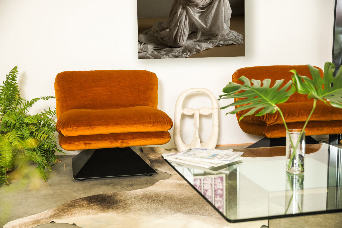 Pair of Lounge Chairs by Luigi Pellegrin for MIM Roma