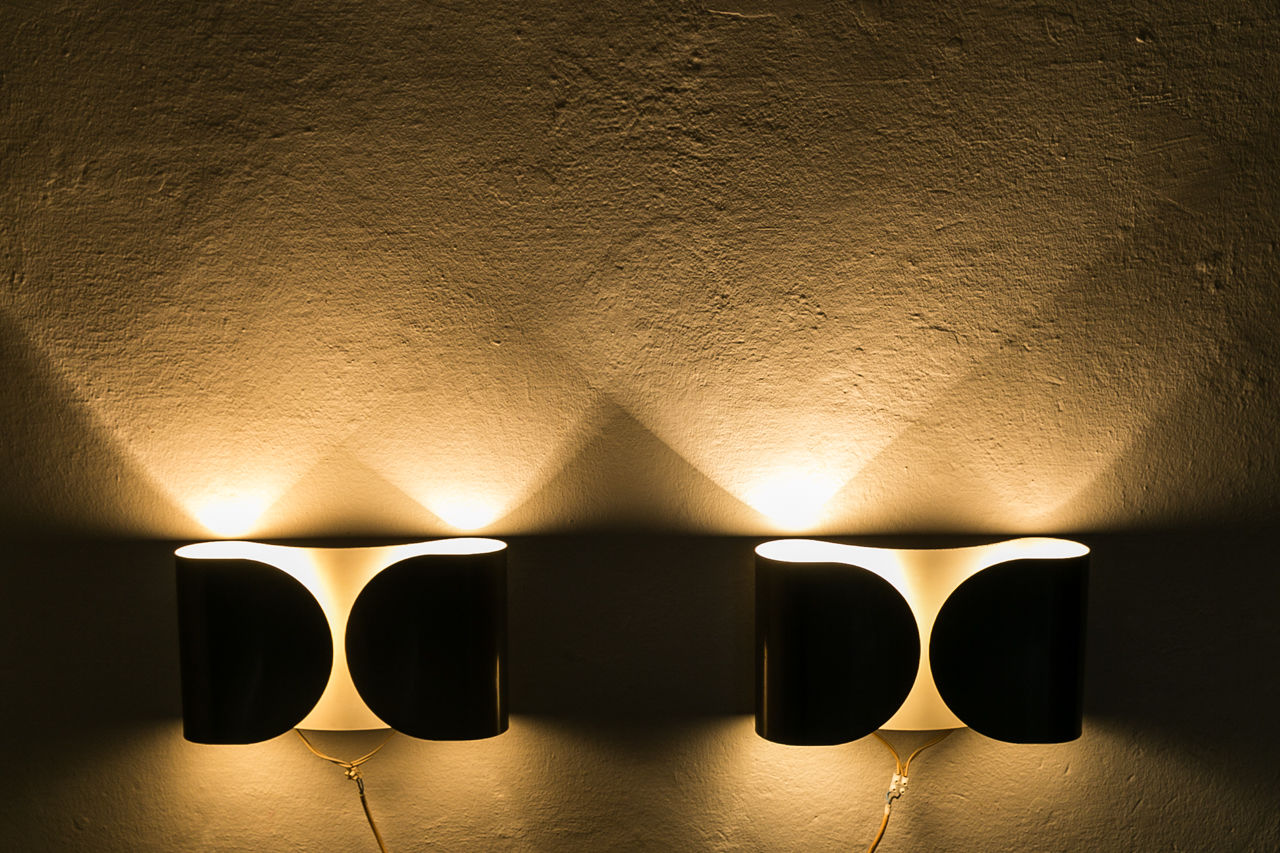 Pair of  Foglio Sconces by Tobia Scarpa for Floss 1966  Italy