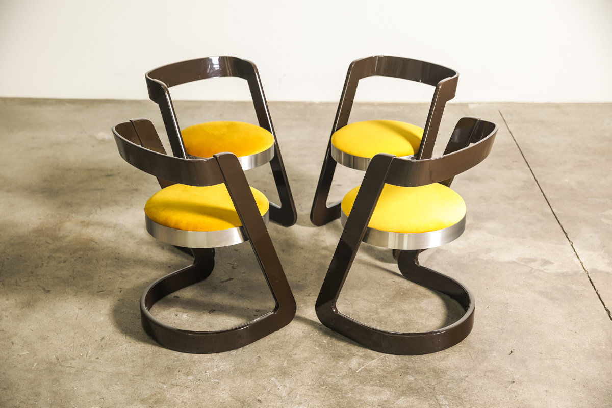 Pedestal table Set by Willy Rizzo