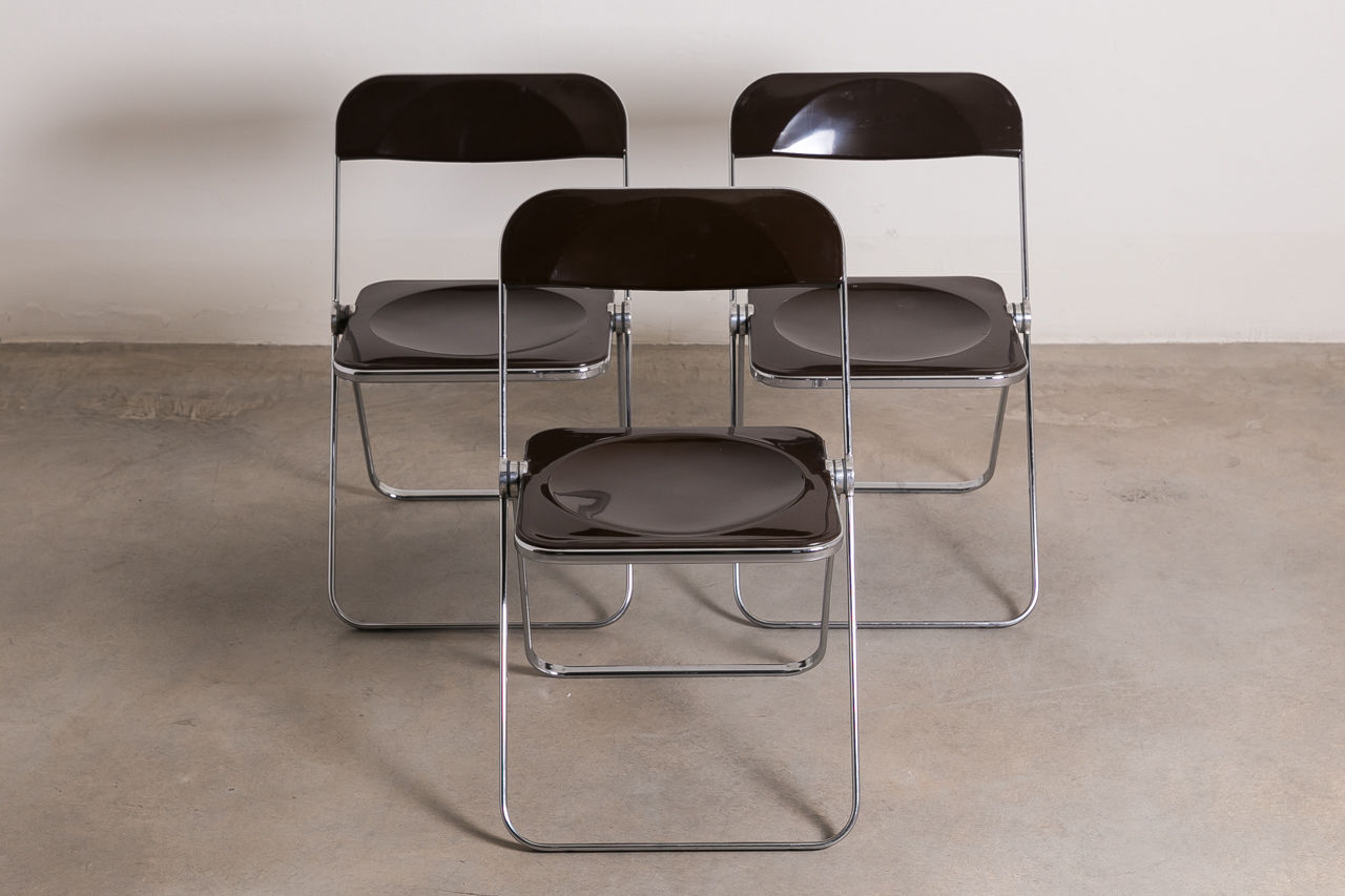 Plia chairs by Giancarlo Piretti for Castelli 1967 Italy