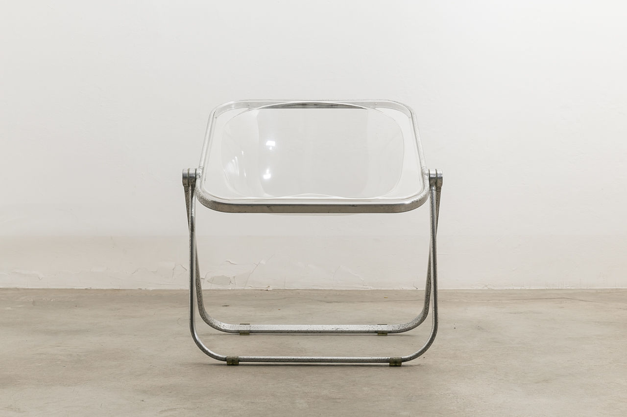 Plona Chair by Giancarlo Piretti for Castelli Circa 1970 Italy