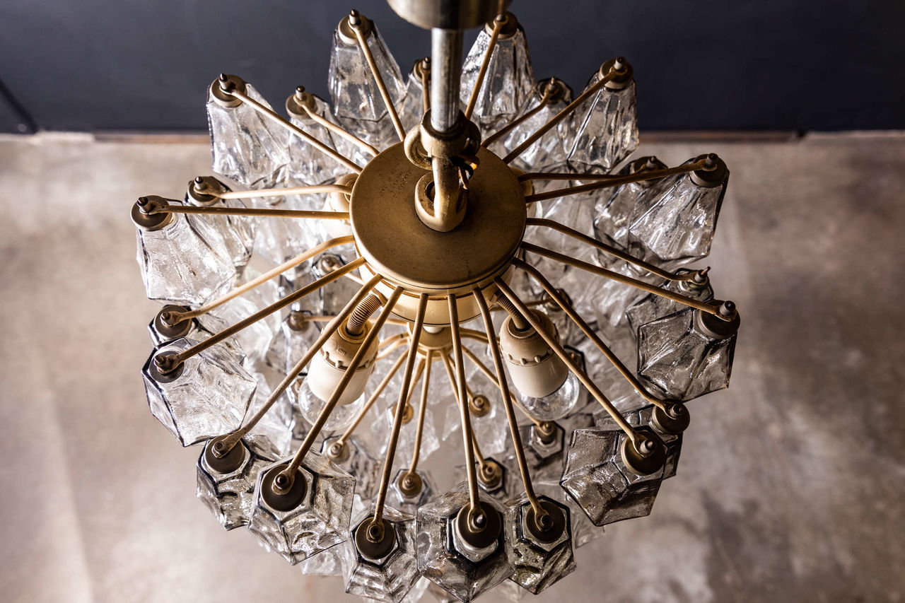 Poliedri Chandelier by Carlo Scarpa for Venini
