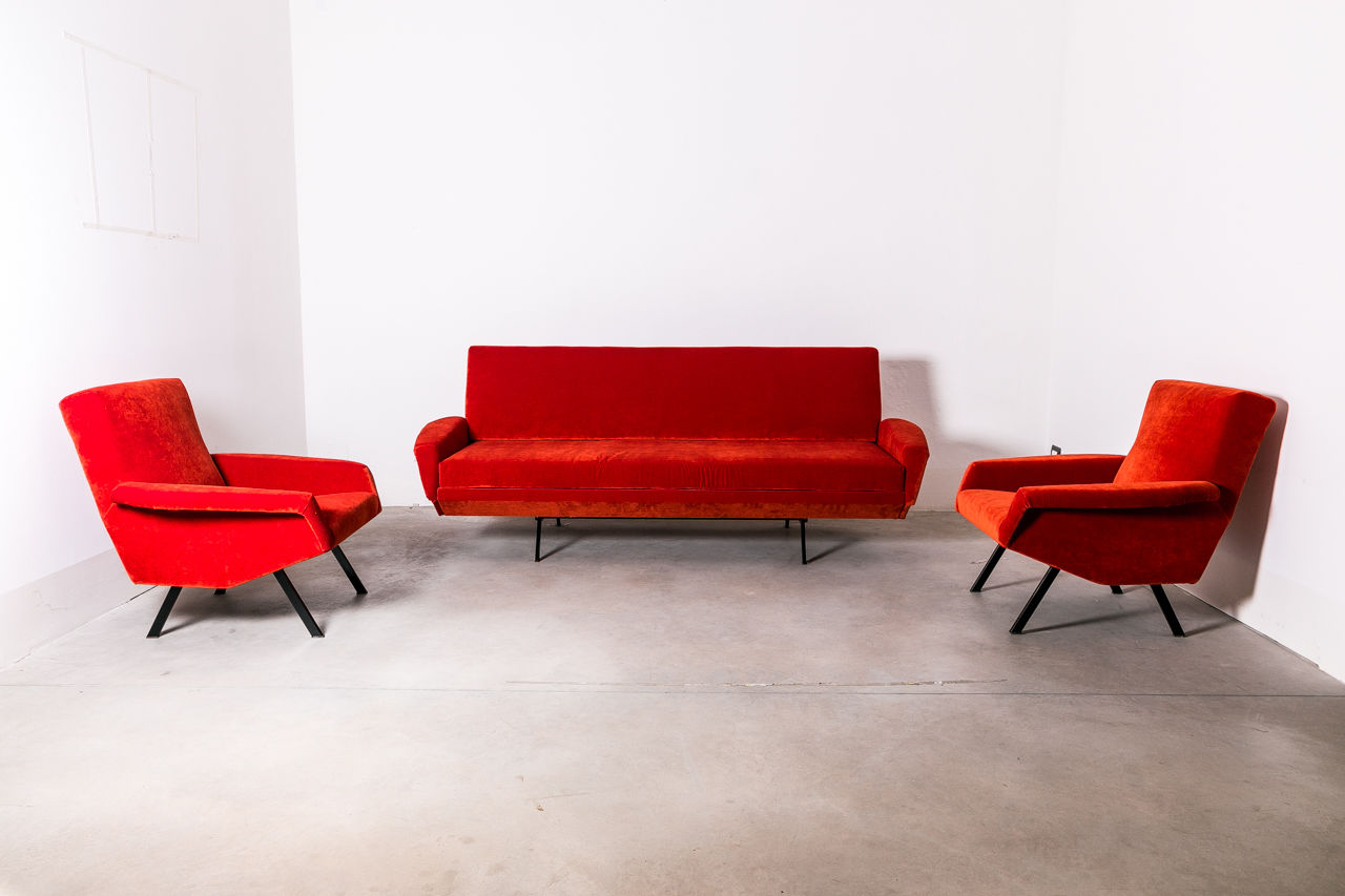 Reclinable Sofa and armchairs Zanuso