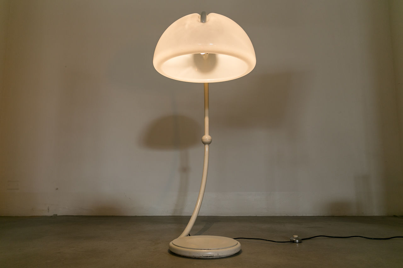 Serpente Lamp by Elio Martinelli for Martinelli Luce Circa 1970 Italy
