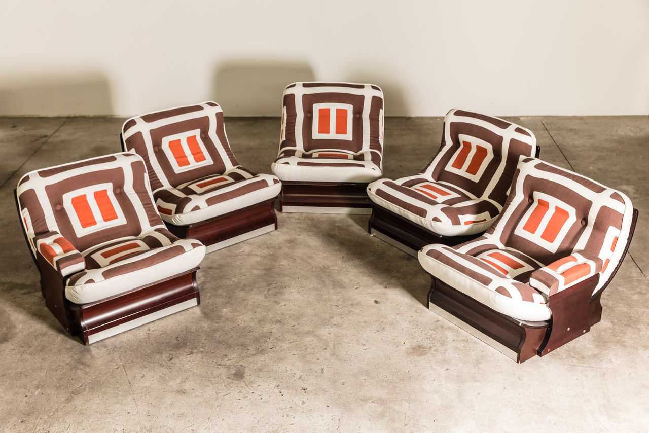 Set of 1970s Italian Lounge Chairs