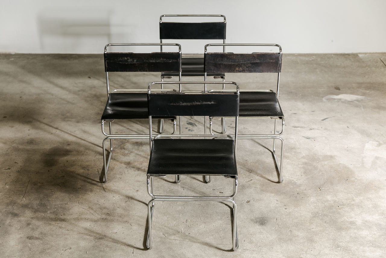 Set of 4 Chairs by Giovanni Carini for Planula 1970 Italy